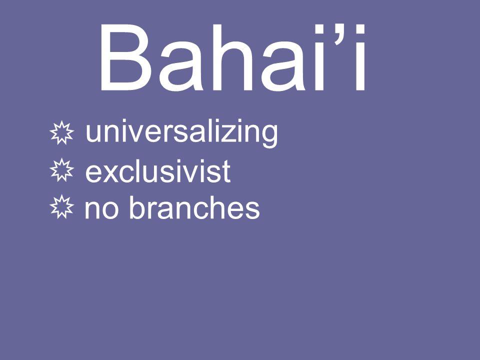 universalizing exclusivist no branches