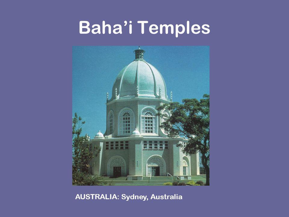 Baha'i Temples AUSTRALIA: Sydney, Australia