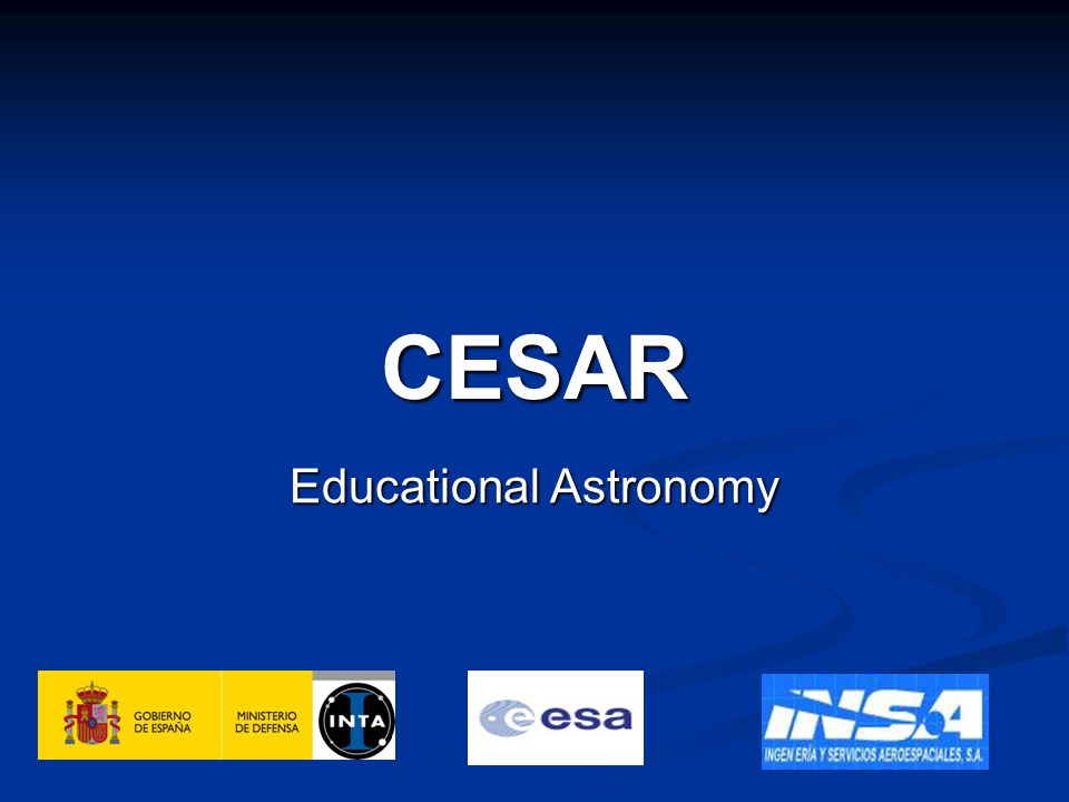 Objective CESAR (Cooperation through Education in Science and Astronomy Research) will provide students all throughout Europe at University level with hands-on experience in Space Science and will stimulate their interest in science and thechnology and in particular in Astronomy Research both in Radio and Optical fields.