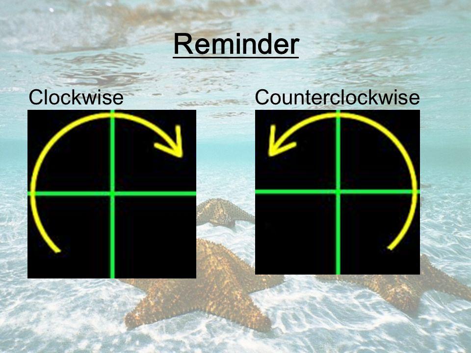 Reminder Clockwise Counterclockwise