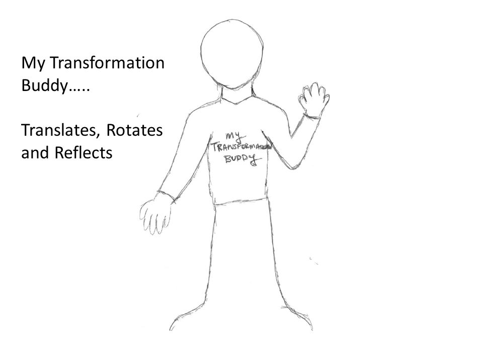 My Transformation Buddy….. Translates, Rotates and Reflects