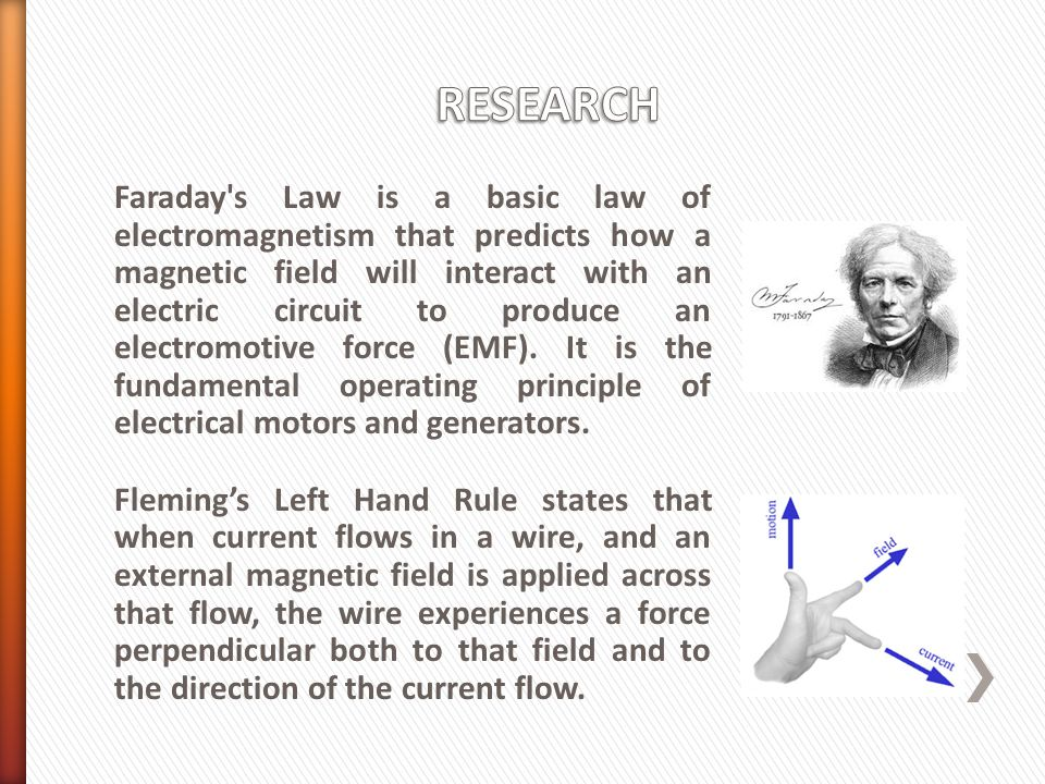 Faraday s Law is a basic law of electromagnetism that predicts how a magnetic field will interact with an electric circuit to produce an electromotive force (EMF).