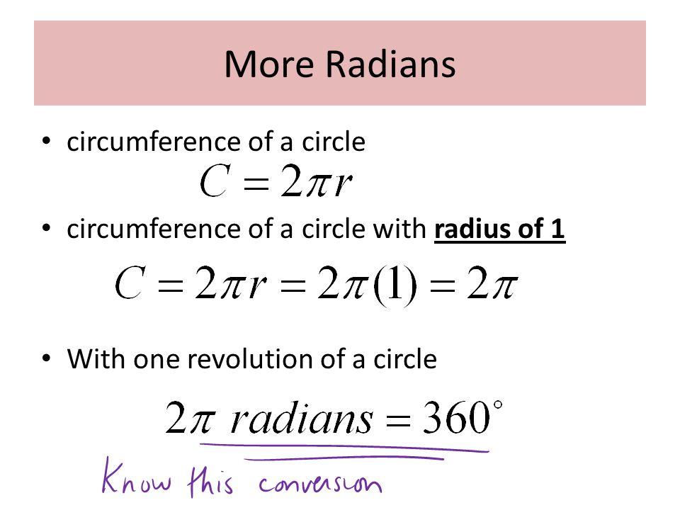 Example 2: Convert to radians.
