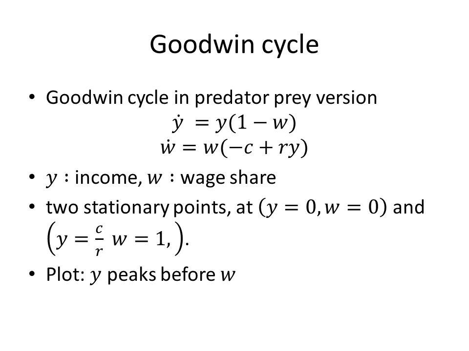 Goodwin cycle