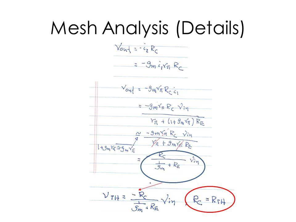Mesh Analysis (Details)