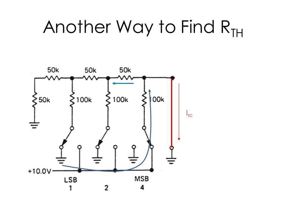 Another Way to Find R TH i sc