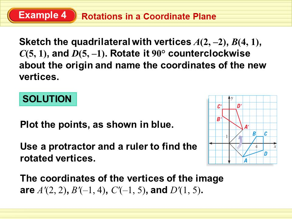 Rotation in a Coordinate Plane