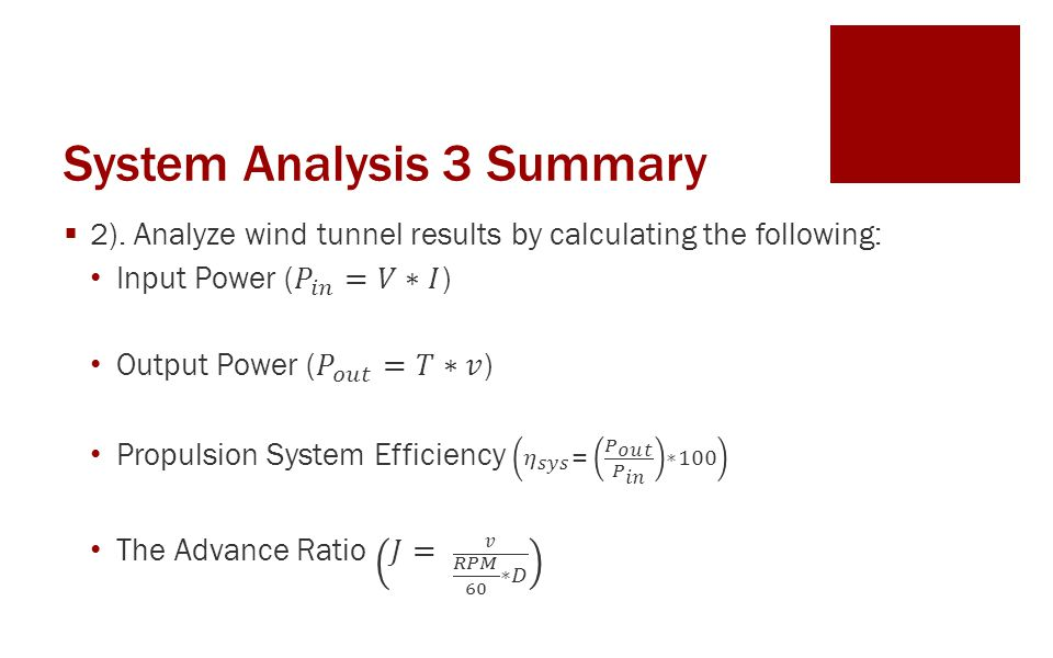 System Analysis 3 Summary