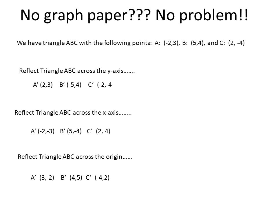 No graph paper . No problem!.