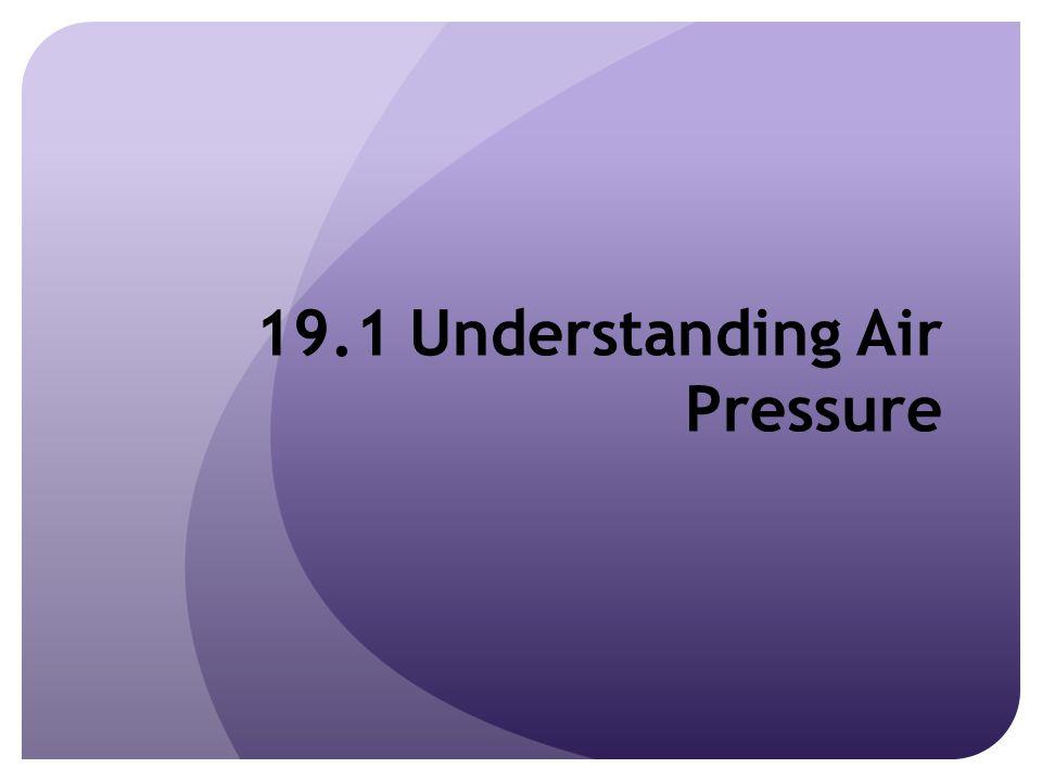 19.1 Understanding Air Pressure