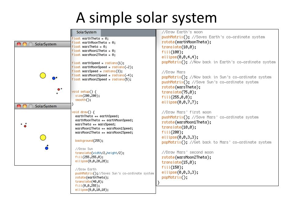 A simple solar system