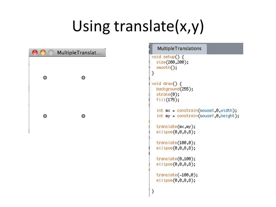 Using translate(x,y)