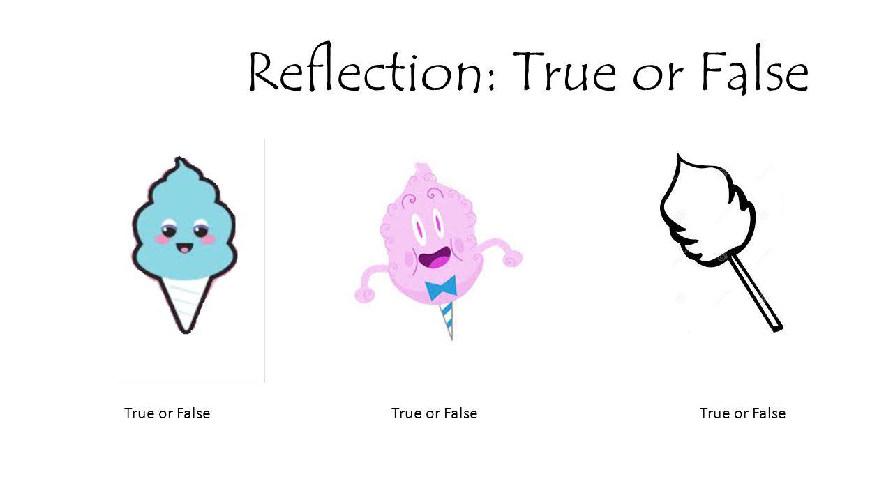 Reflection: True or False True or False