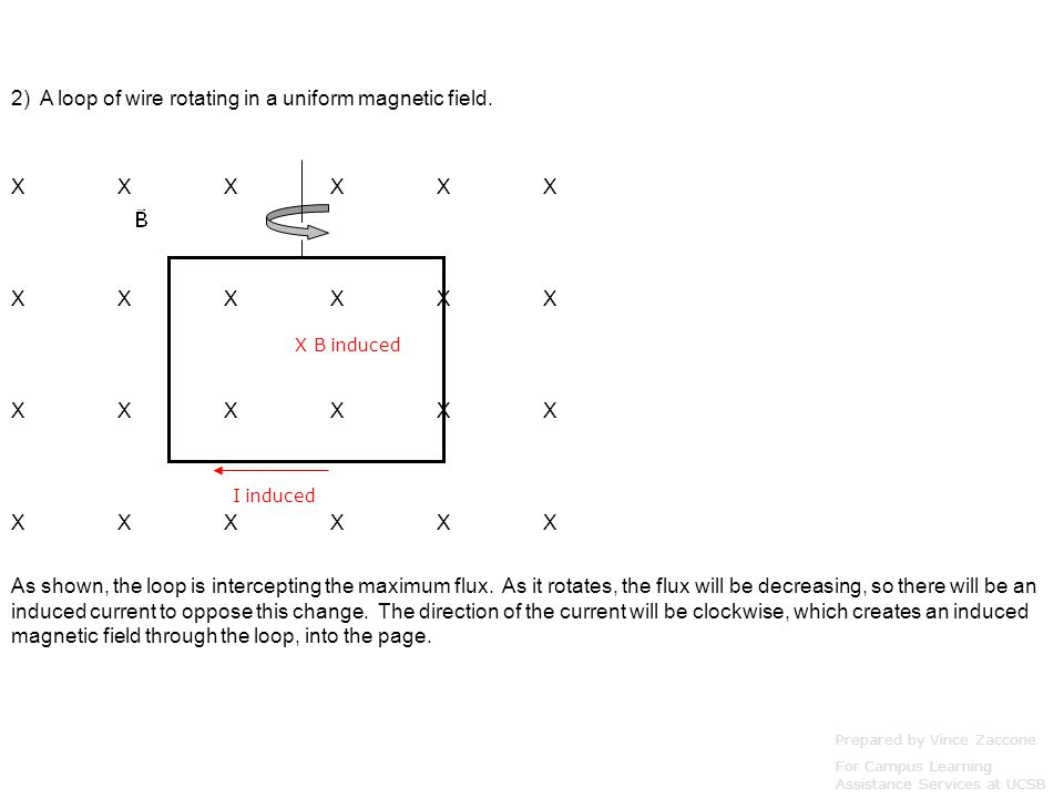 Here's one where we can calculate the effect of the induction: Suppose there is a uniform B-Field pointing into the page.