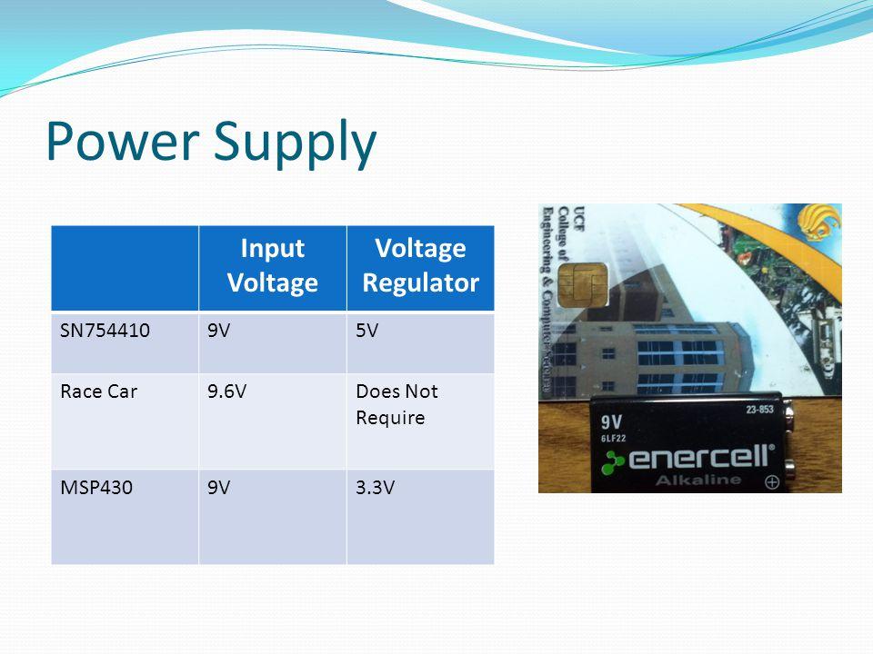 Power Supply Input Voltage Voltage Regulator SN7544109V5V Race Car9.6VDoes Not Require MSP4309V3.3V