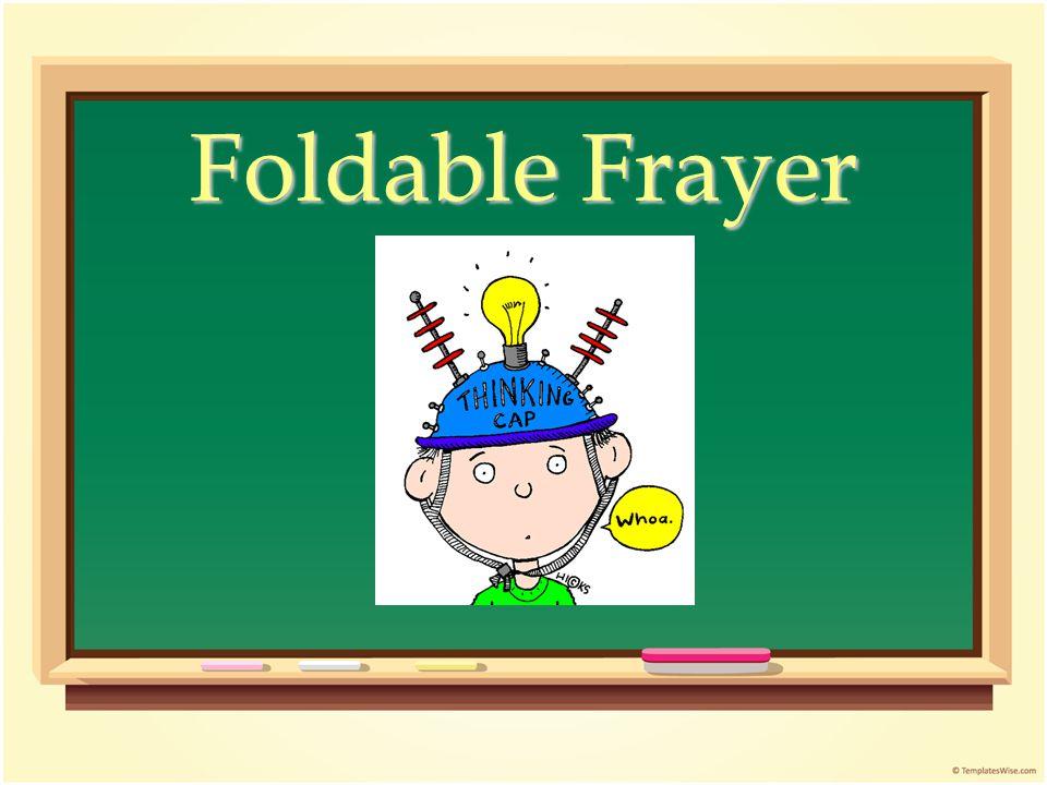 Foldable Frayer