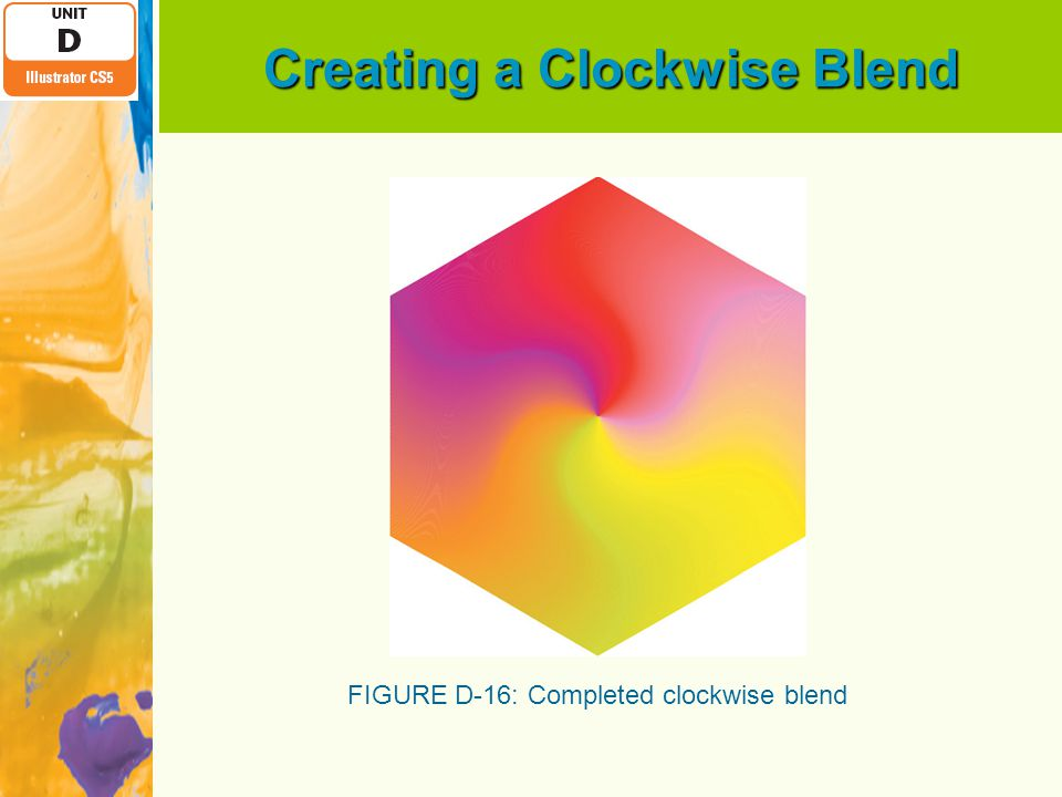 Creating a Clockwise Blend FIGURE D-16: Completed clockwise blend