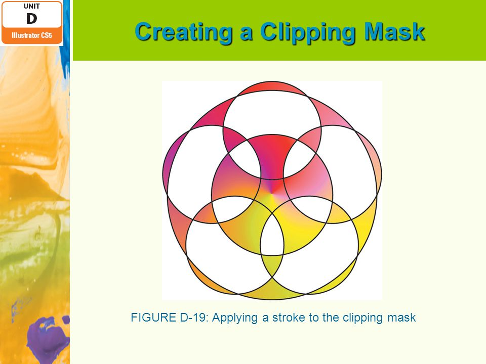 Creating a Clipping Mask FIGURE D-19: Applying a stroke to the clipping mask