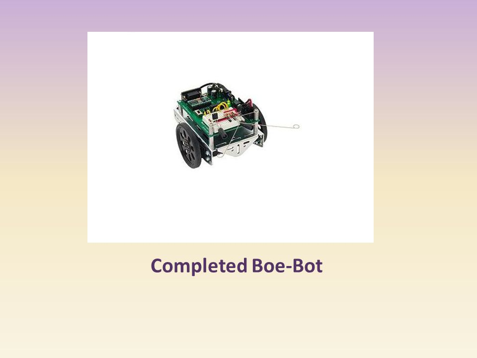 Completed Boe-Bot