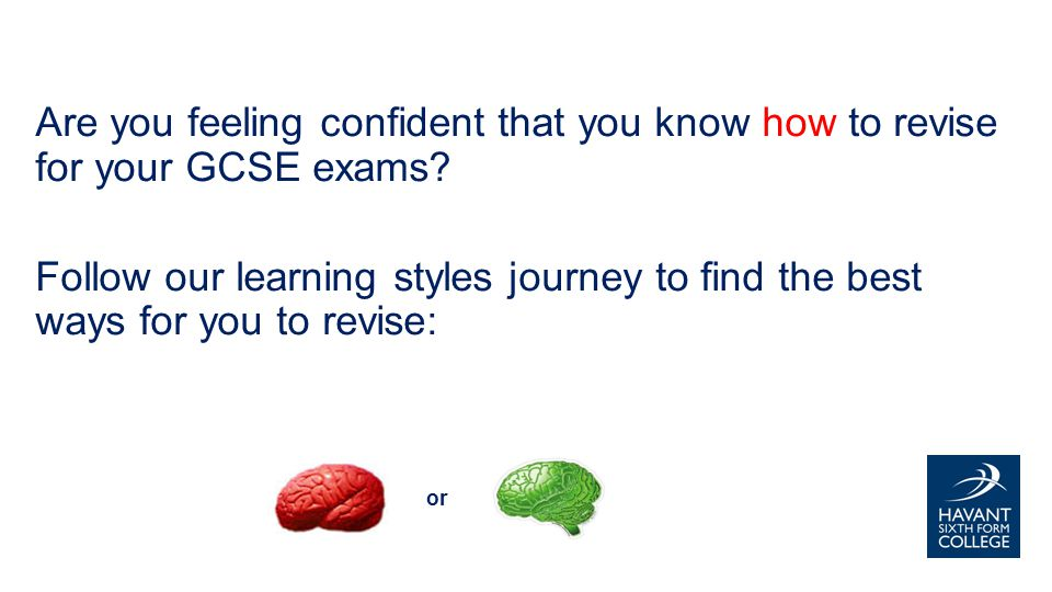 Are you feeling confident that you know how to revise for your GCSE exams.