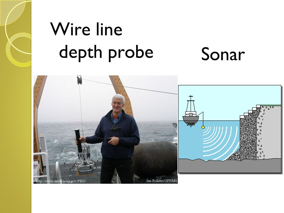 Wire line depth probe Sonar