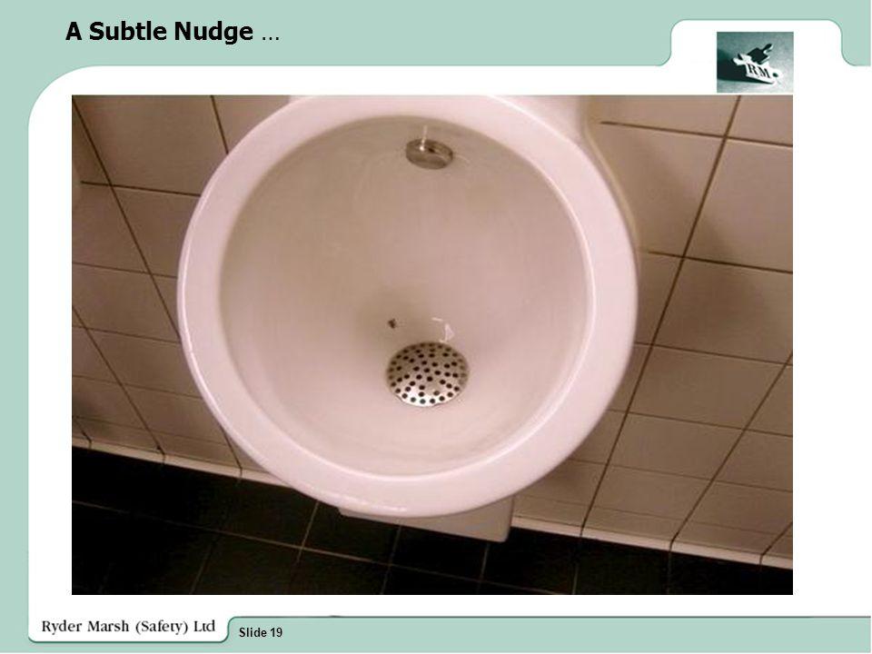 Slide 19 A Subtle Nudge …