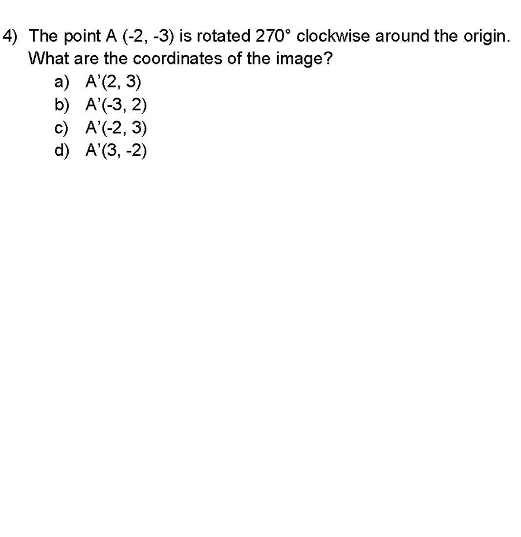 4 A B C D