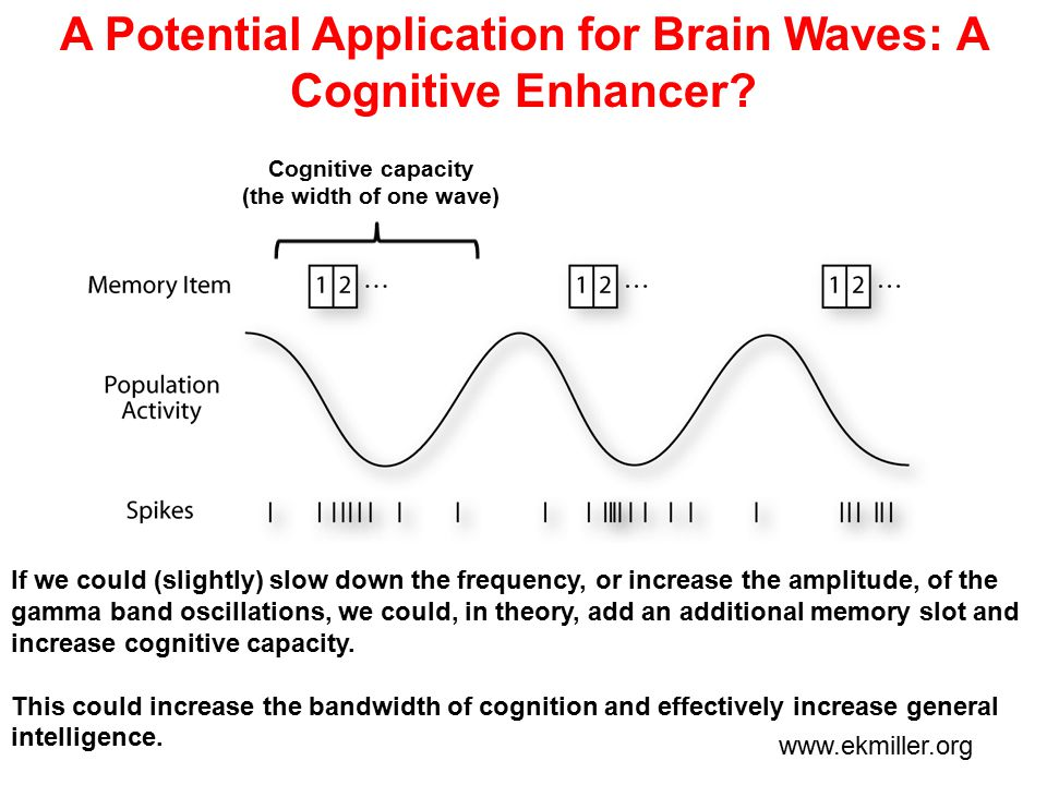 A Potential Application for Brain Waves: A Cognitive Enhancer.