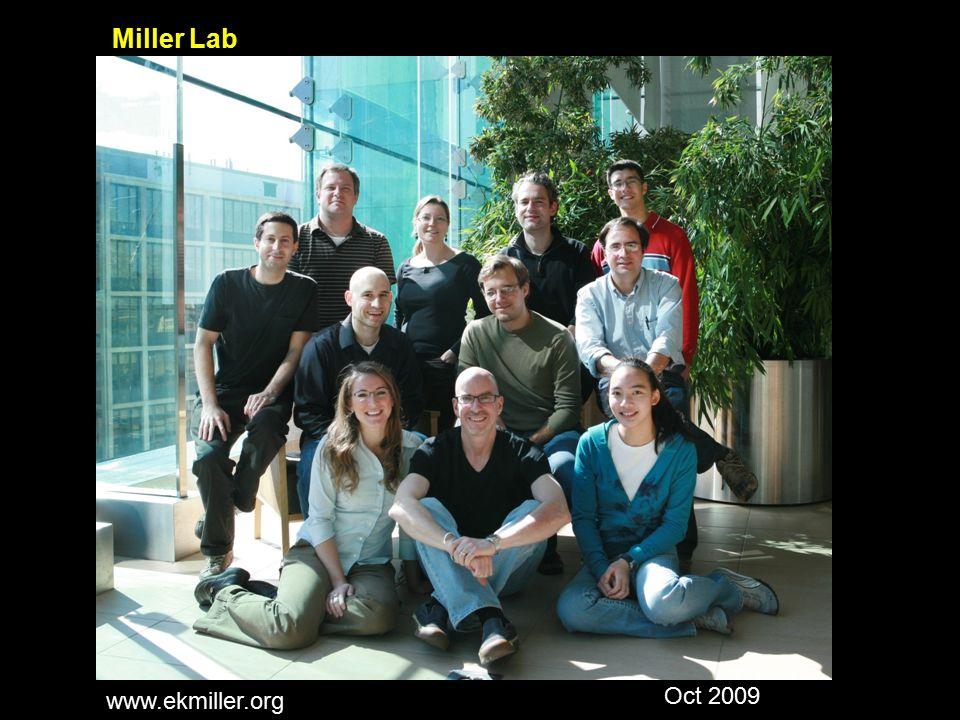 Miller Lab Oct 2009 www.ekmiller.org