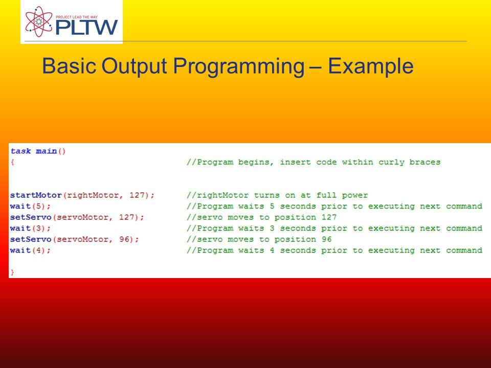 Basic Output Programming – Example