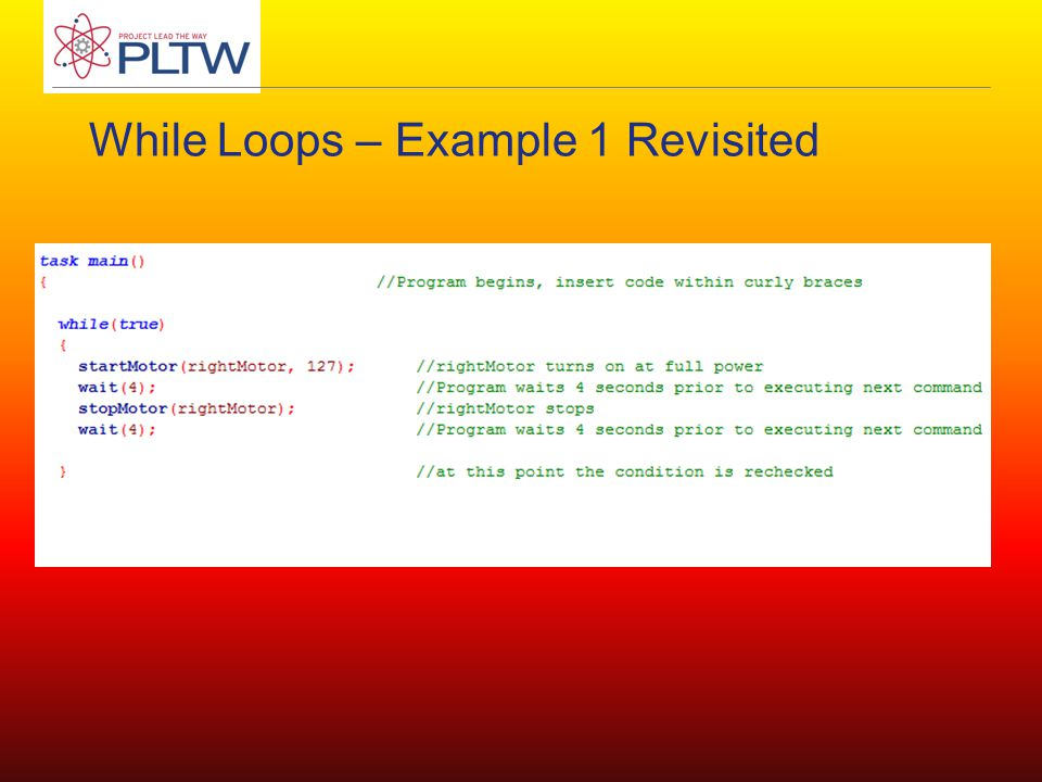 While Loops – Example 1 Revisited