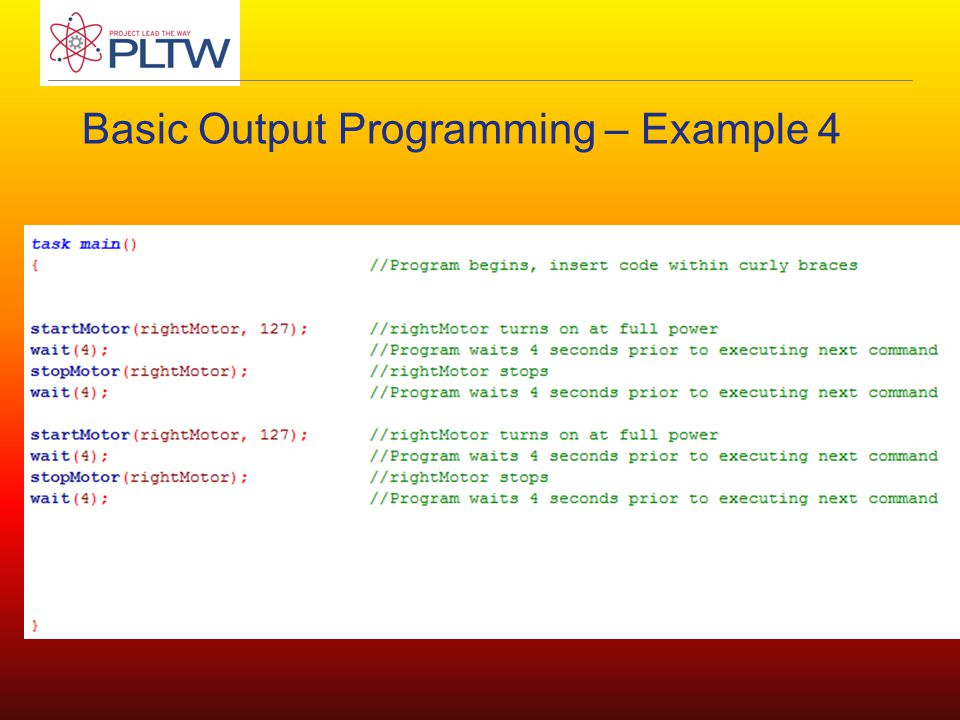 Basic Output Programming – Example 4