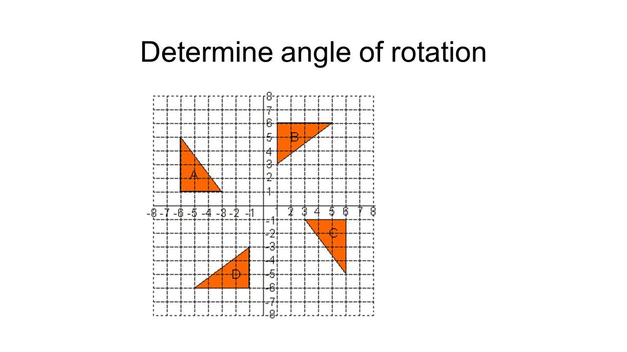 Determine angle of rotation