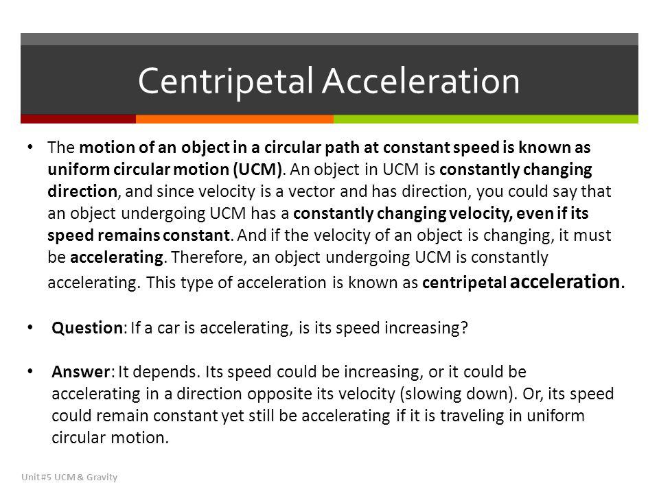 Sample Problem #3 Centripetal Force Unit #5 UCM & Gravity