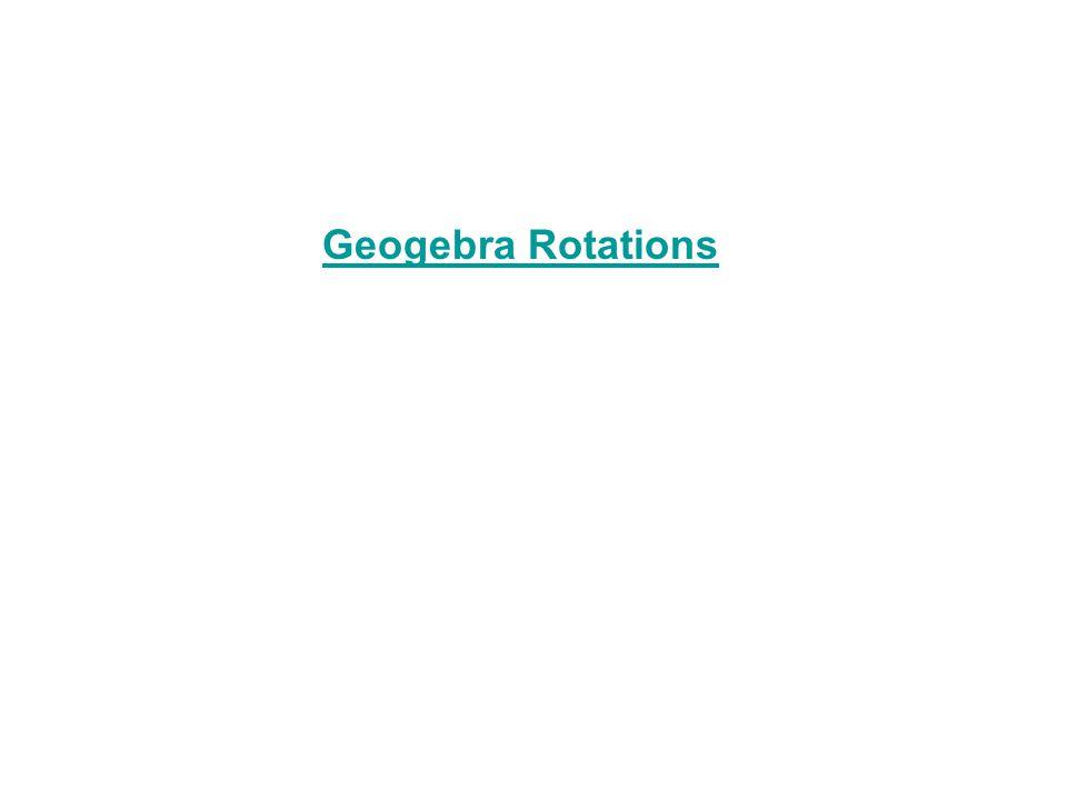 Geogebra Rotations