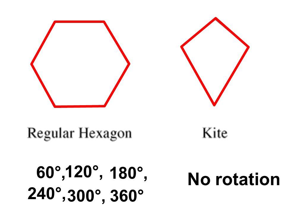 60°, 120°, 180°, 240°, 300°,360° No rotation