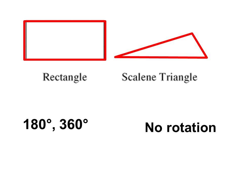 180°,360° No rotation