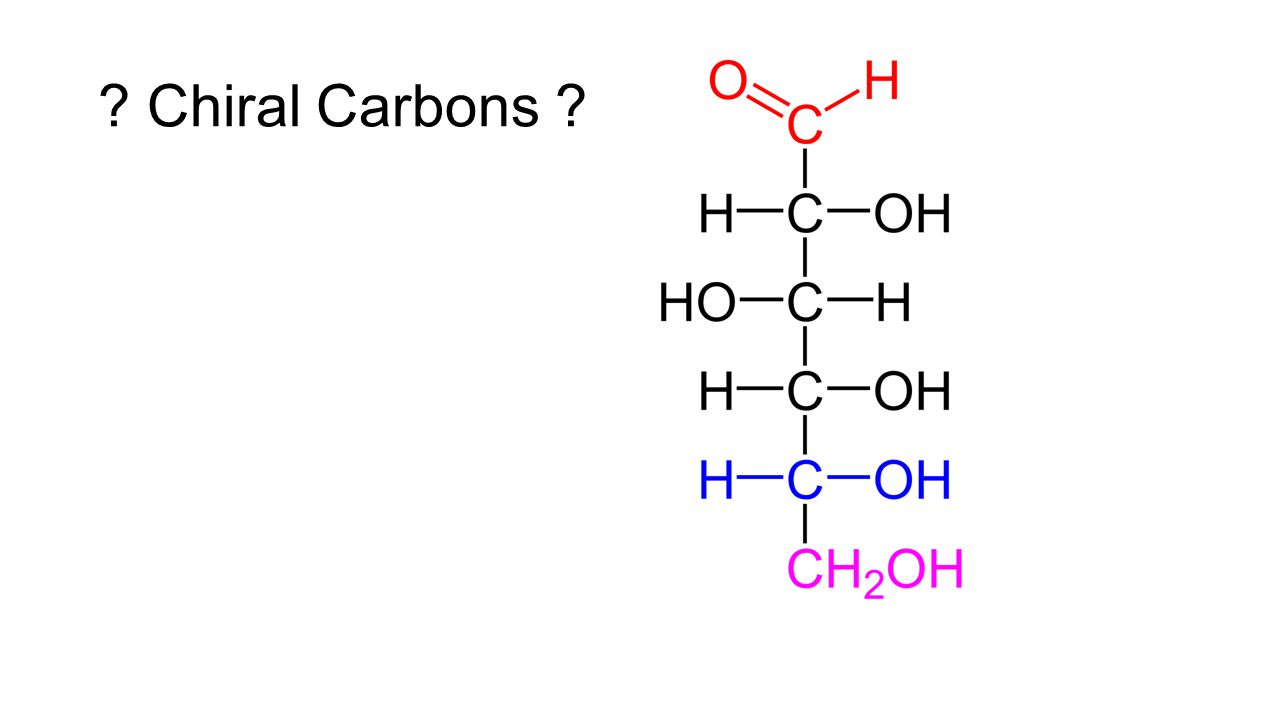 D and L Notation - Cabohydrates D,L tells which of the two chiral isomers of a carbohydrate we are referring to.