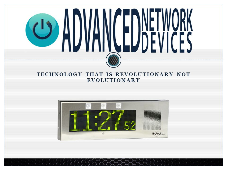 A Rich History of Engineering & Technology 2 Advanced Network Devices (AND) designs and sells sophisticated multi media applications and products.