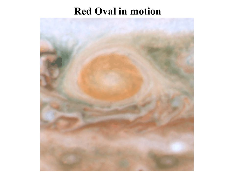 Giant red spot in motion