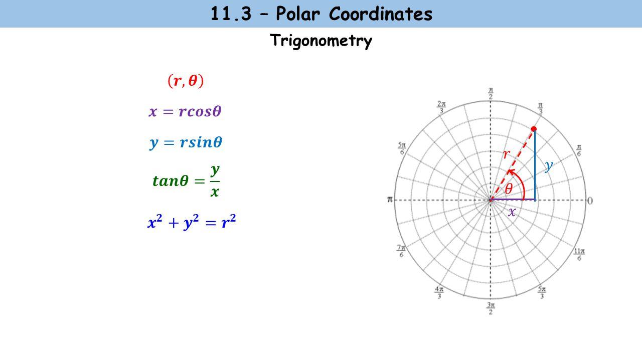 11.3 – Polar Coordinates Trigonometry 