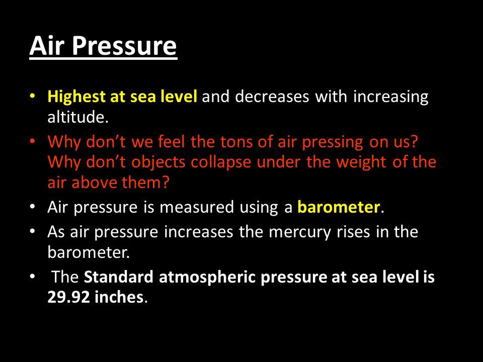 Barometers Aneroid barometer Mercury barometer