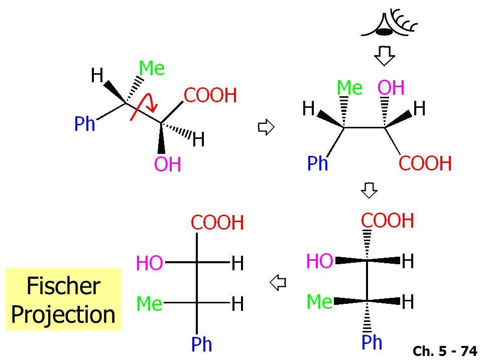 Ch. 5 - 74 Fischer Projection