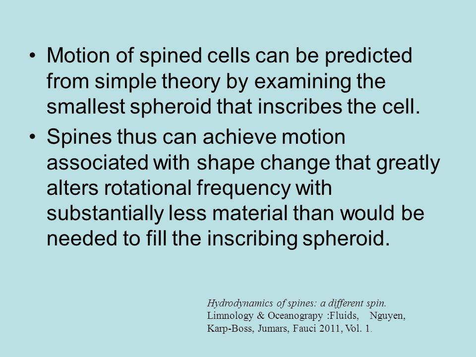 Motion of spined cells can be predicted from simple theory by examining the smallest spheroid that inscribes the cell.