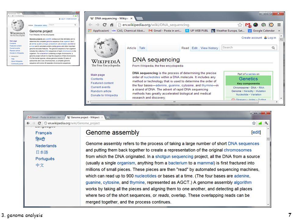 18 3. genome analysis