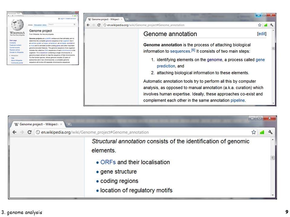 20 3. genome analysis