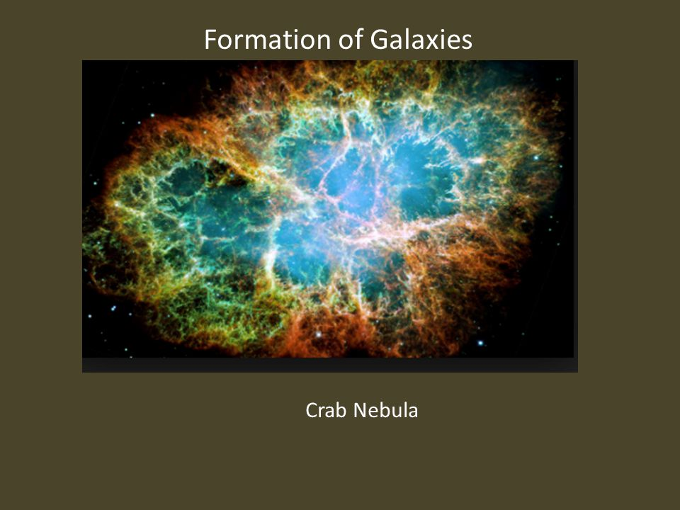 Formation of Galaxies Crab Nebula