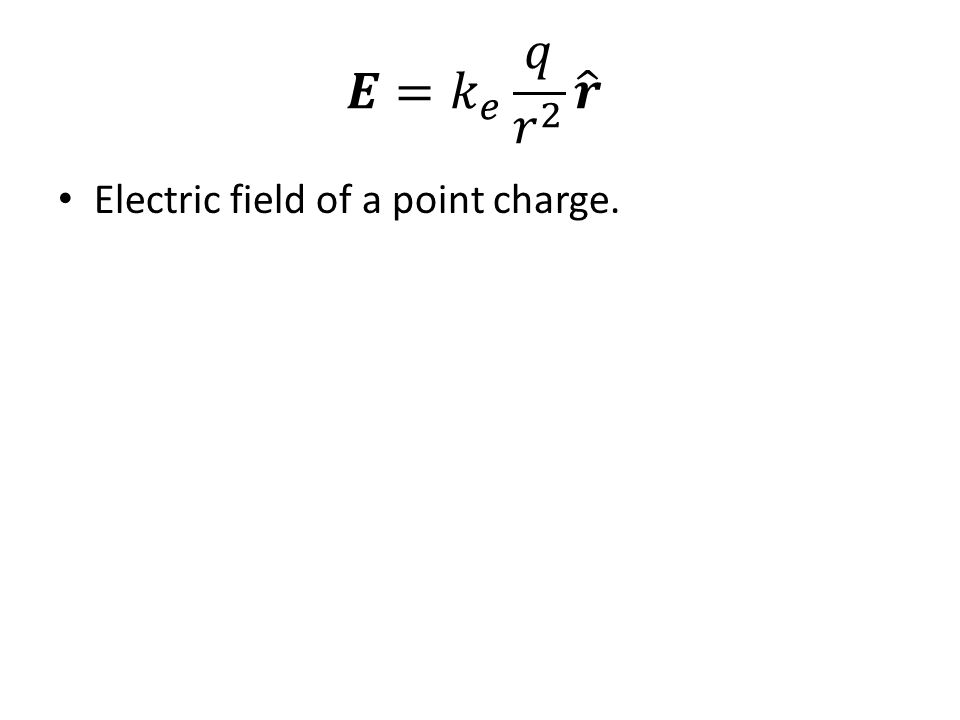 Electric field of a point charge.