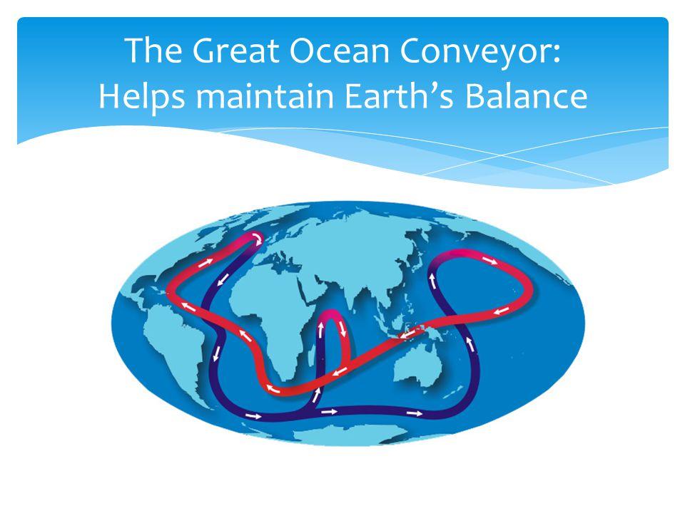 The Great Ocean Conveyor: Helps maintain Earth's Balance