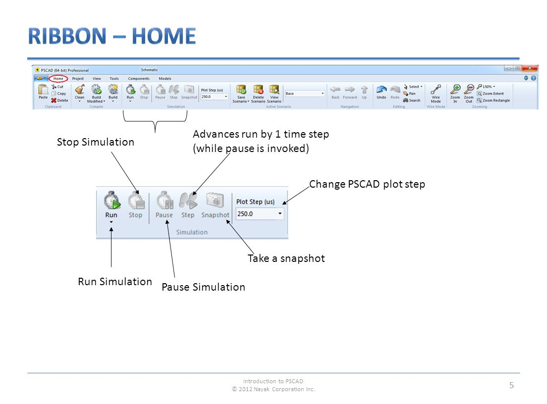 6 Project Settings dialog contains most features and settings related to simulation control in PSCAD.